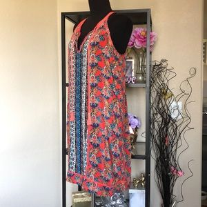 Tolani silk mini dress beachy swim coverup tunic